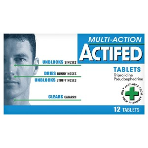 Actifed tablets multi action