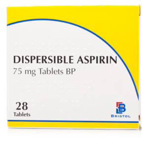 Aspirin 75mg dispersible tabs 28