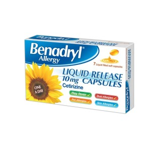 Benadryl allergy liquid release 10mg caps 7