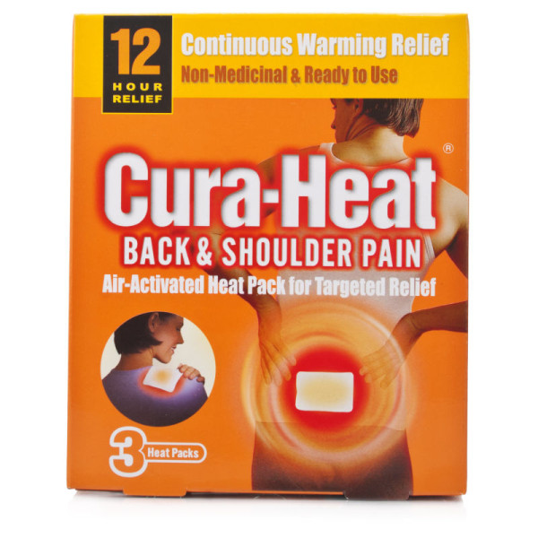 Cura-heat back and shoulder pain 3 pack
