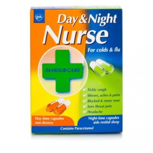Day Nurse capsules for Colds and Flu 20 caps
