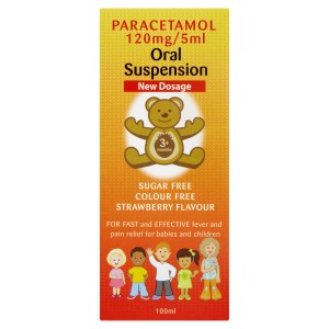 Paracetamol suspension 120mg 5ml