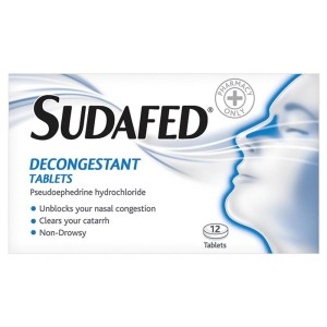 Sudafed decongestant tablets 12 pack